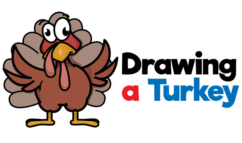 How to Draw a Cartoon Turkey for Thanksgiving Easy Step by Step Drawing Tutorial for Beginners