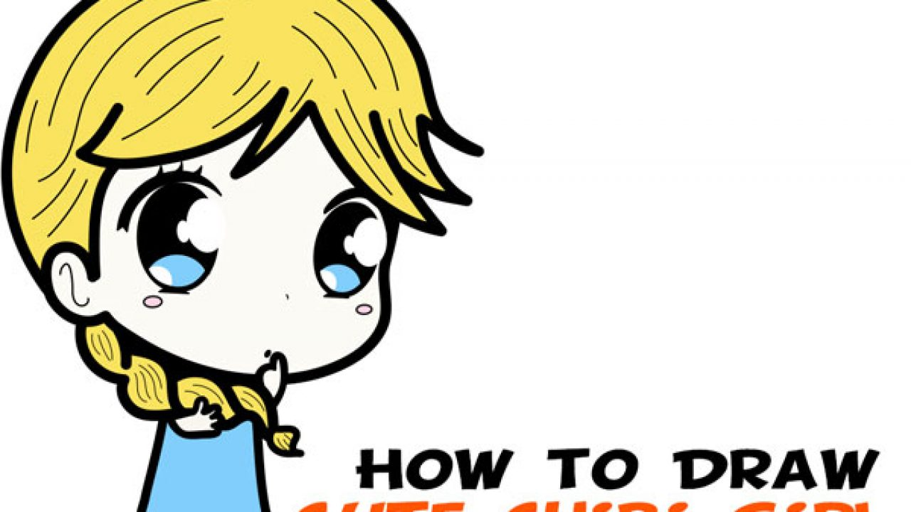 How To Draw A Supercute Chibi Girl With Easy Step By Step Drawing
