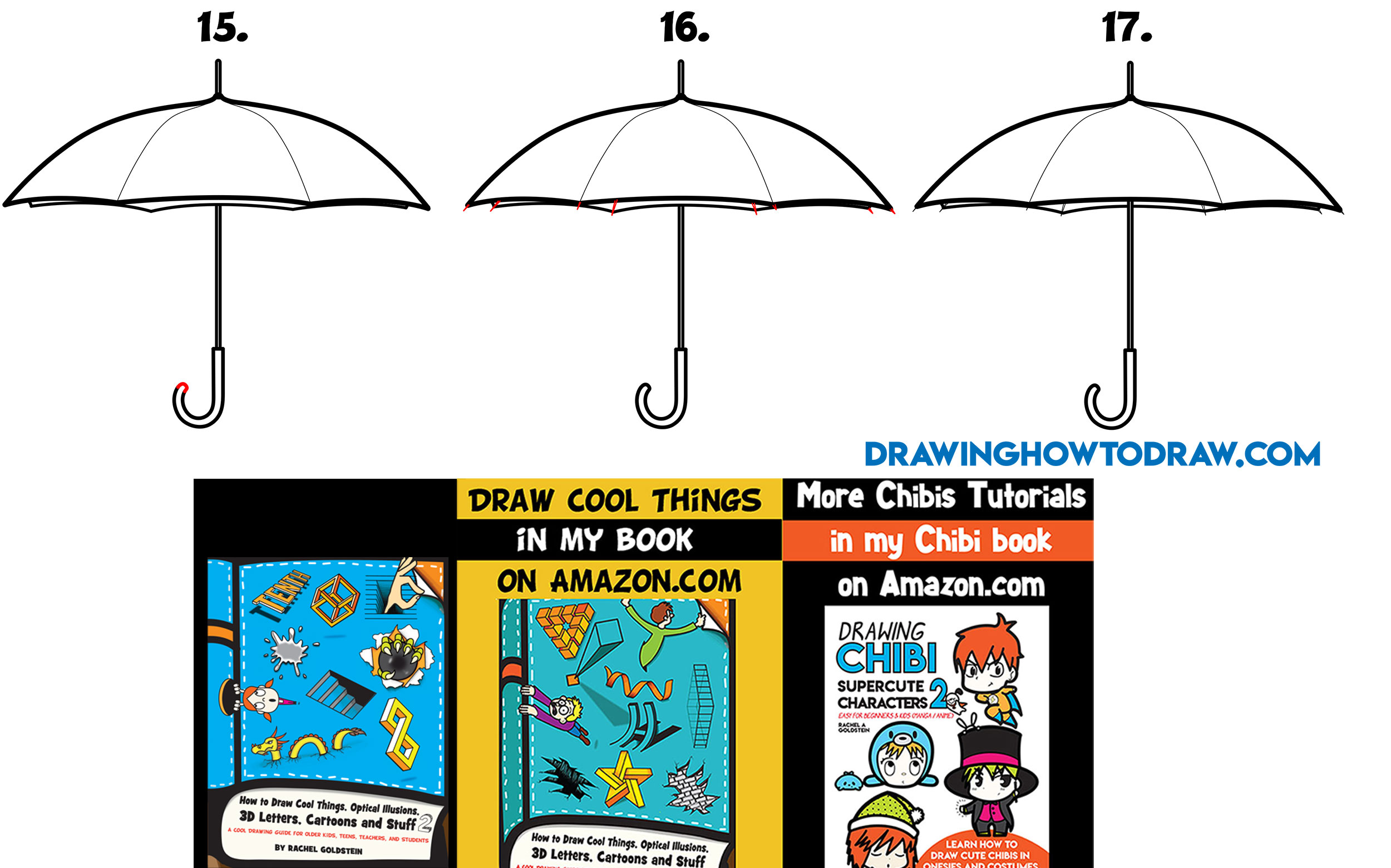 Learn How to Draw an Umbrella Simple Steps Drawing Lesson for Beginners
