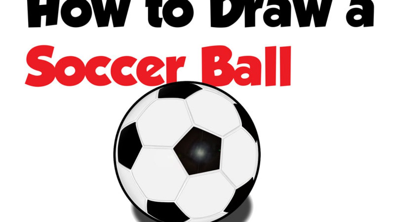 How to Draw a Soccer Ball Easy Step by Step Drawing Tutorial for