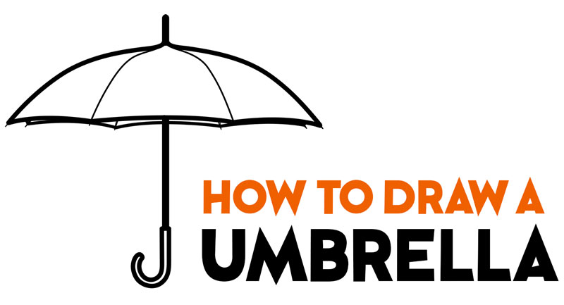 Learn How to Draw an Umbrella Easy Step by Step Drawing Tutorial for Beginners