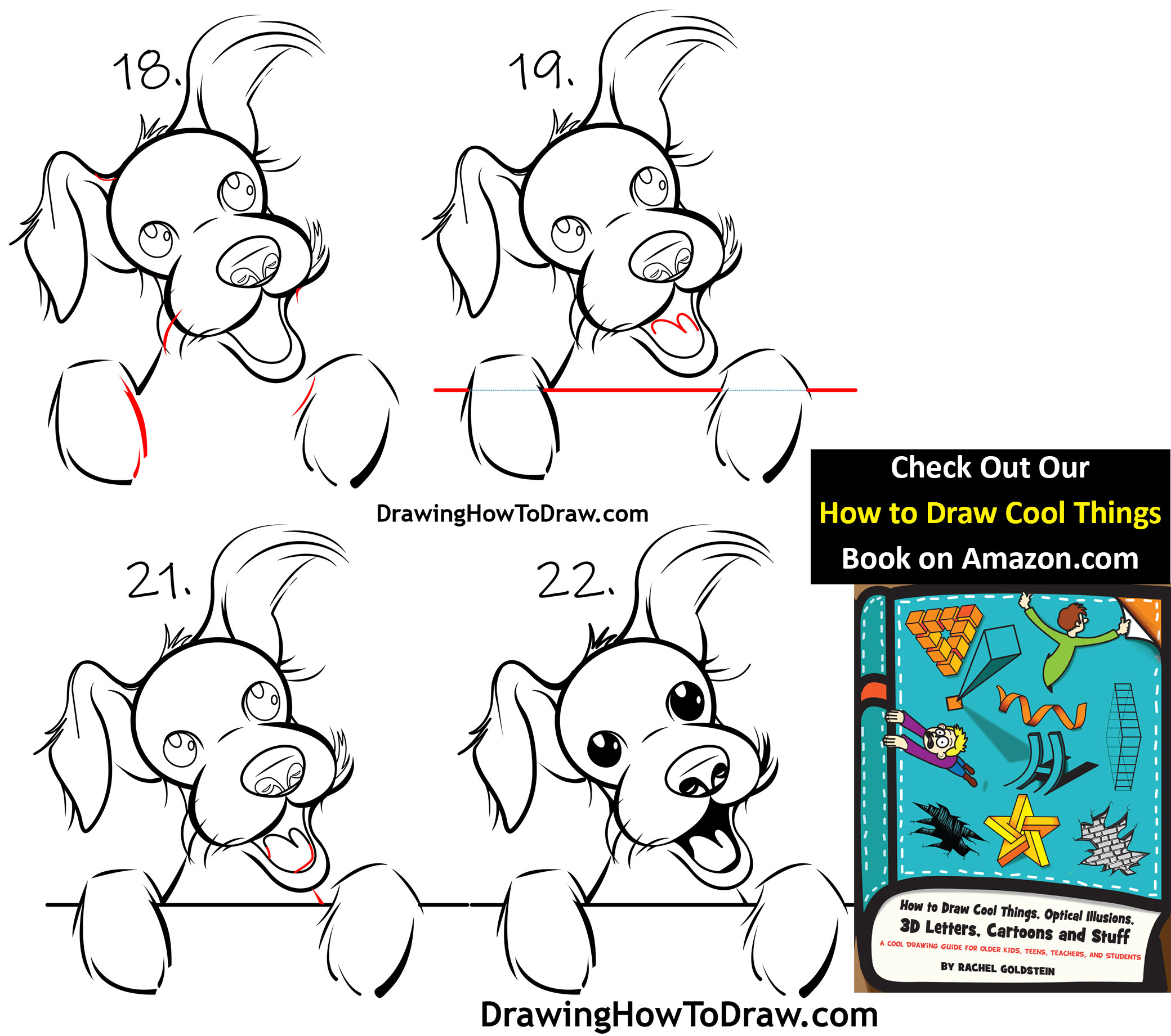 Learn how to draw a cartoon terrier dog simple step by step drawing tutorial for kids
