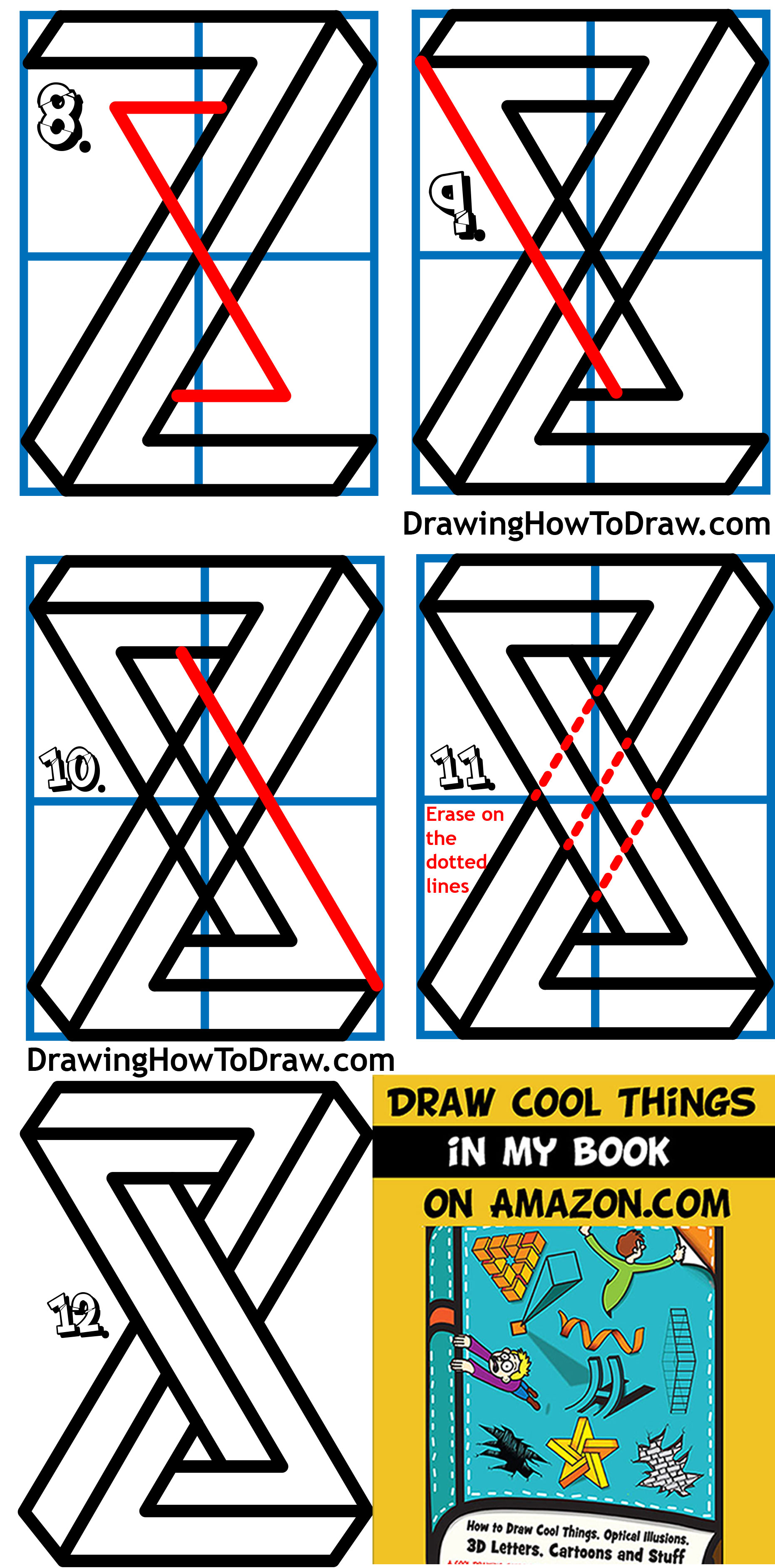 Learn How to Draw an Impossible Shape - Simple Steps Drawing Lesson for Kids & Beginners