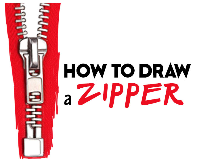 How to Draw a Zipper Easy Step by Step Drawing Tutorial