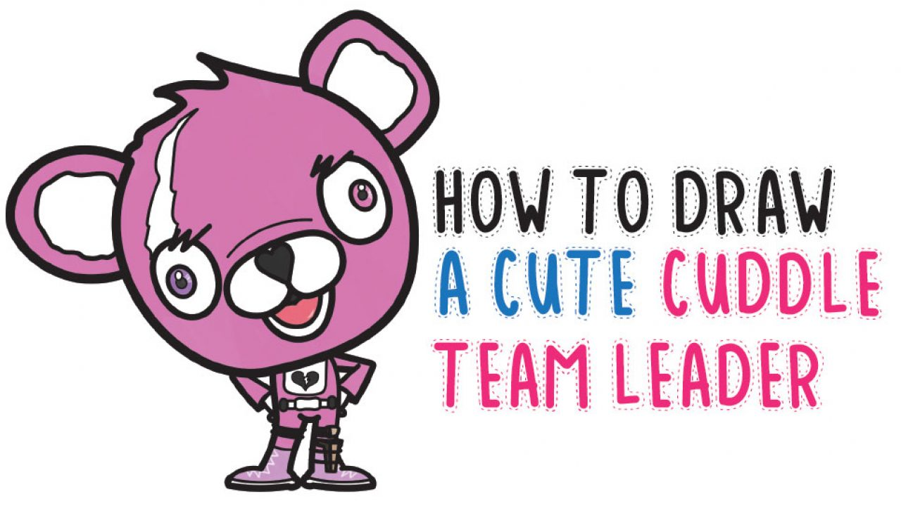 How To Draw A Cute Cuddle Team Leader From Fortnite Easy Step By