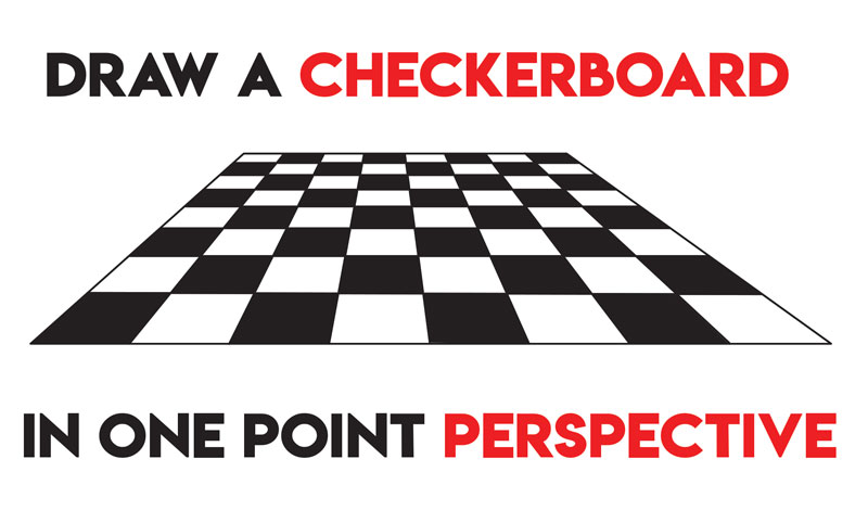 Learn How to Draw a Checkerboard in One Point Perspective - Easy Step by Step Drawing for Beginners
