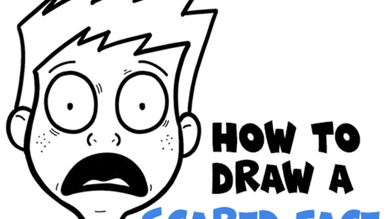 How To Draw Cartoon Facial Expressions Scared Petrified Afraid