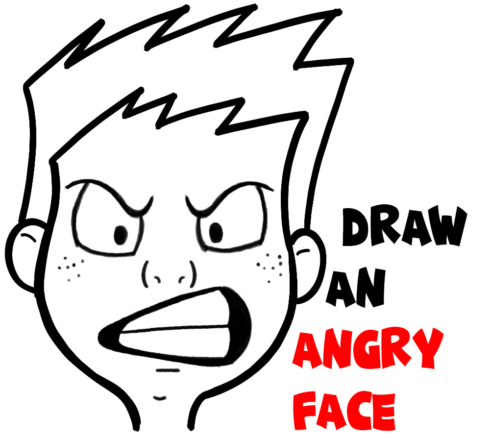 How To Draw Cartoon Facial Expressions Angry Furious Mad How To Draw Step By Step Drawing Tutorials