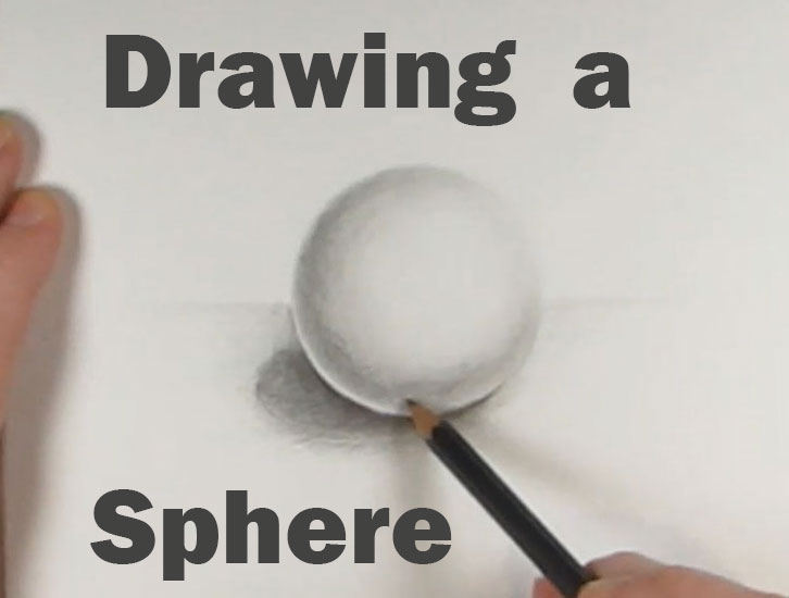 how to draw a sphere or ball with shading graphite pencils step by step drawing tutorial
