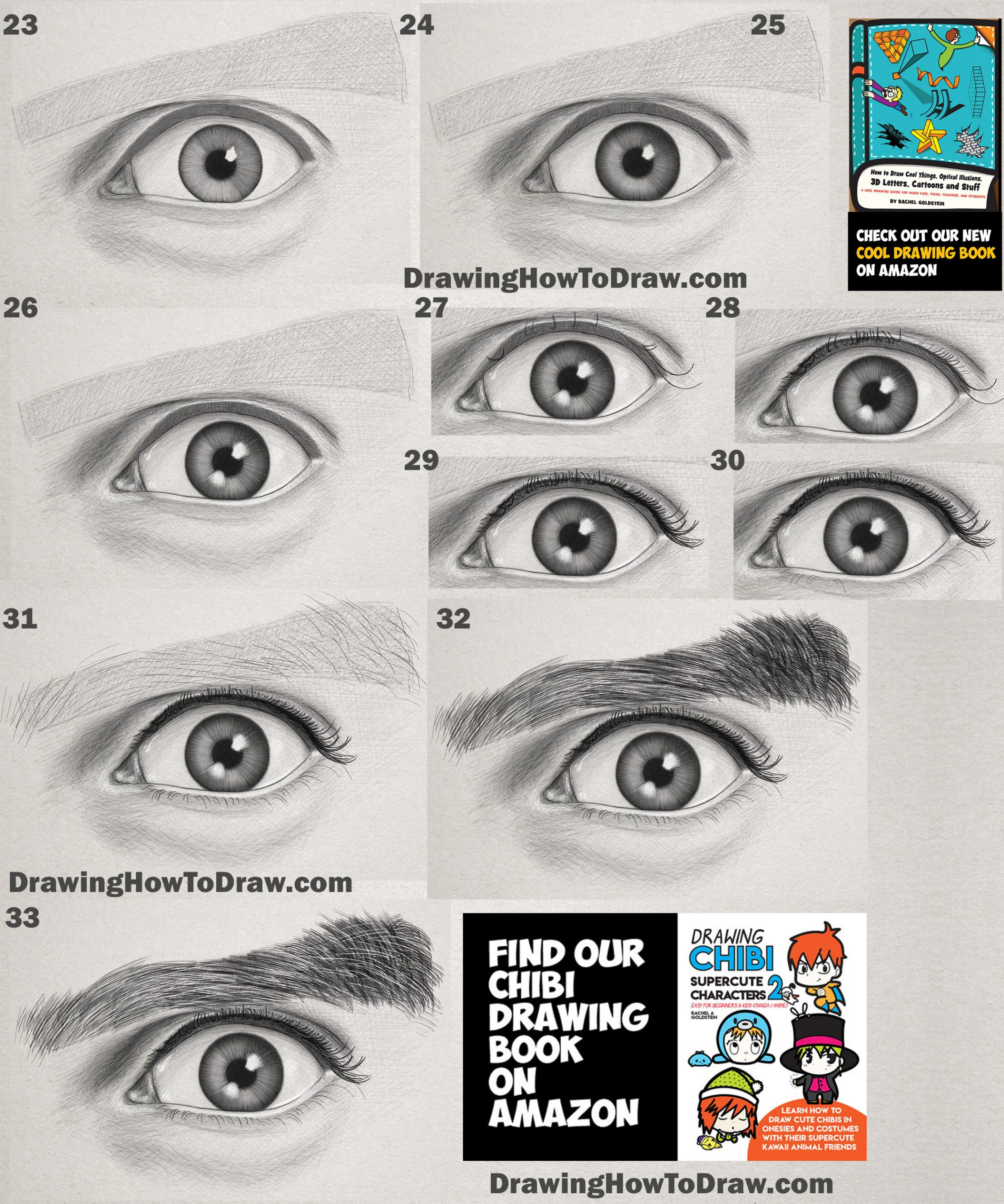 drawing realistic eyes with graphite pencils easy step by step drawing lesson