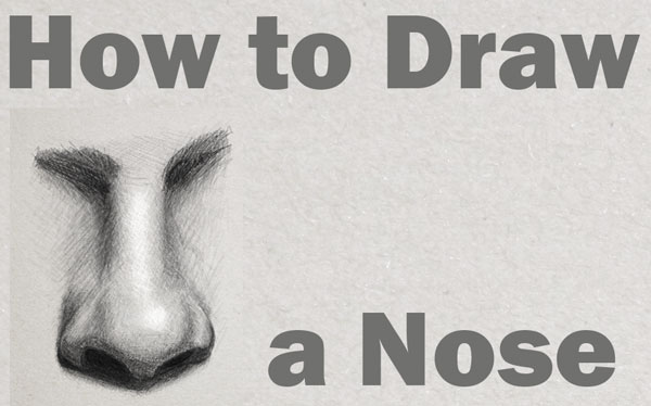 Learn How to Draw and Shade a Realistic Nose in Pencil or Graphite Easy Step by Step Tutorial