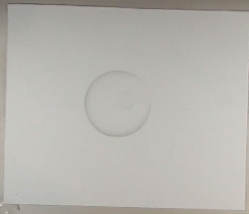 shading and drawing a circle to form sphere or ball