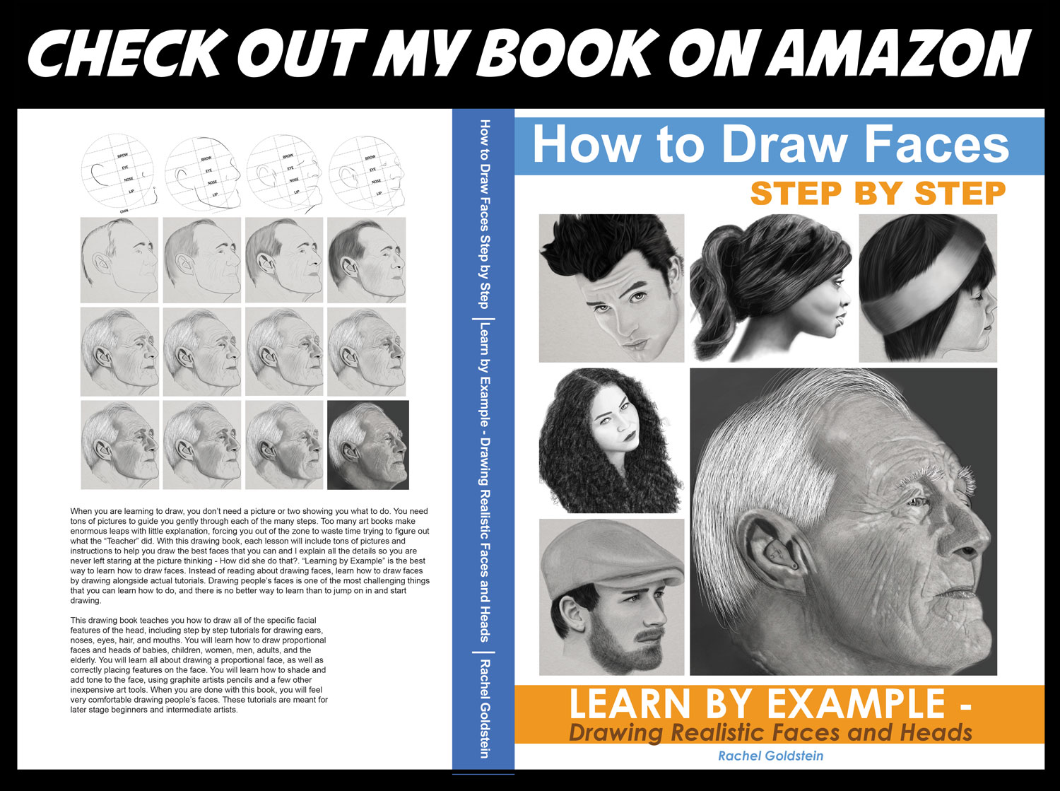 how to draw faces step by step - learn how to draw faces and heads