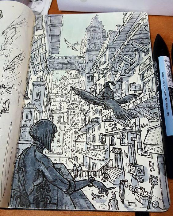 inspiration for sketchbook arts Illustrator Daniele Turturici