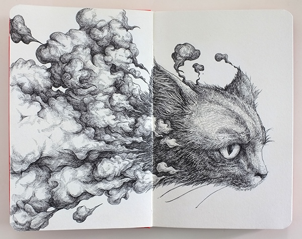greatest inspirational moleskin sketchbooks Kiro Zeng