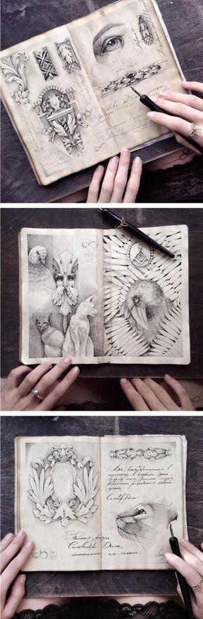 Kelly Richman-Abdou inspirational sketchbook drawings