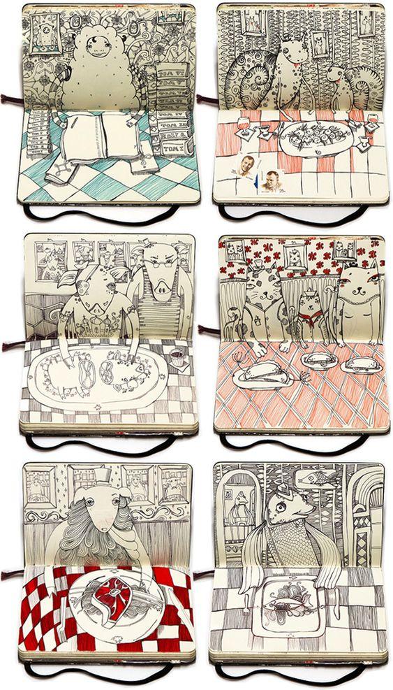 Katie Hosmer Inspirational Colorful Playful Art Sketchbooks