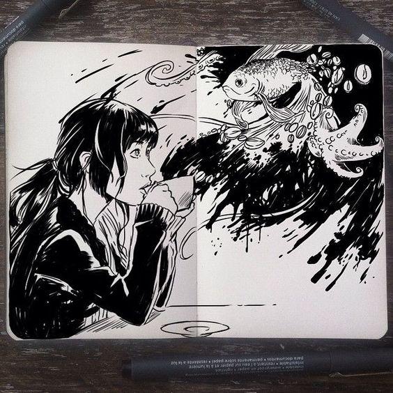 Gabriel Picolo - artwork sketchbook inspire
