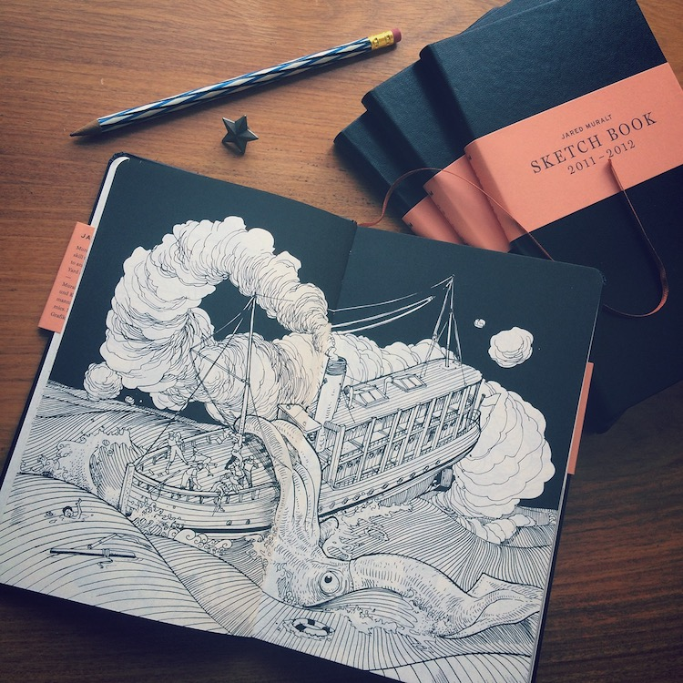 Jared Muralt Inspirational Art Sketchbooks