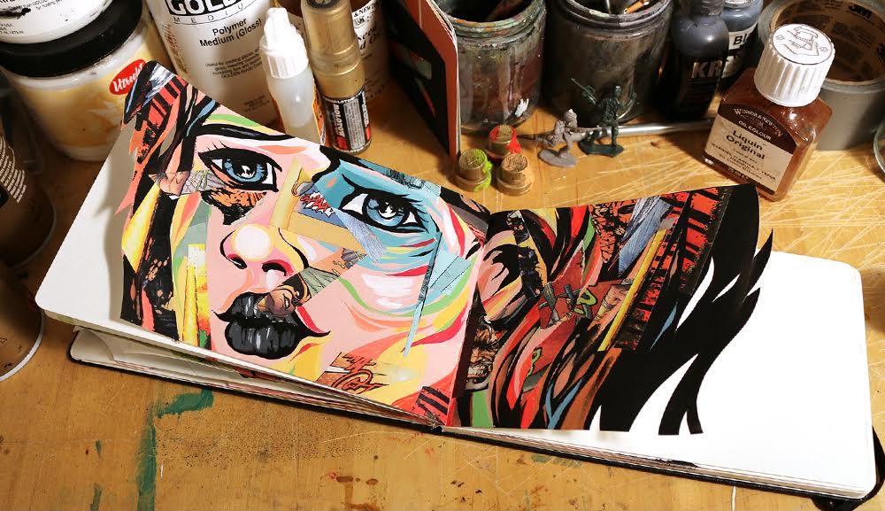 Kerby Rosanes Colorful sketchbook inspiration
