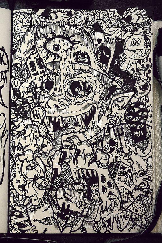Lei Melendres doodles doodling sketchbook ideas
