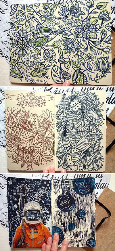 beautiful inspirational art journal Anna Aniskina