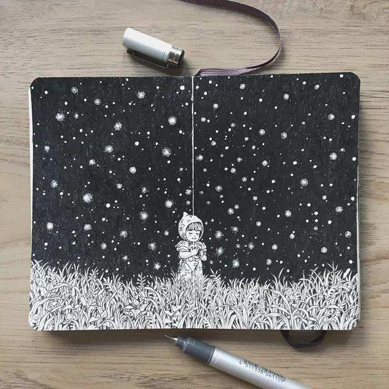 kerby rosanes talented sketchbook artist