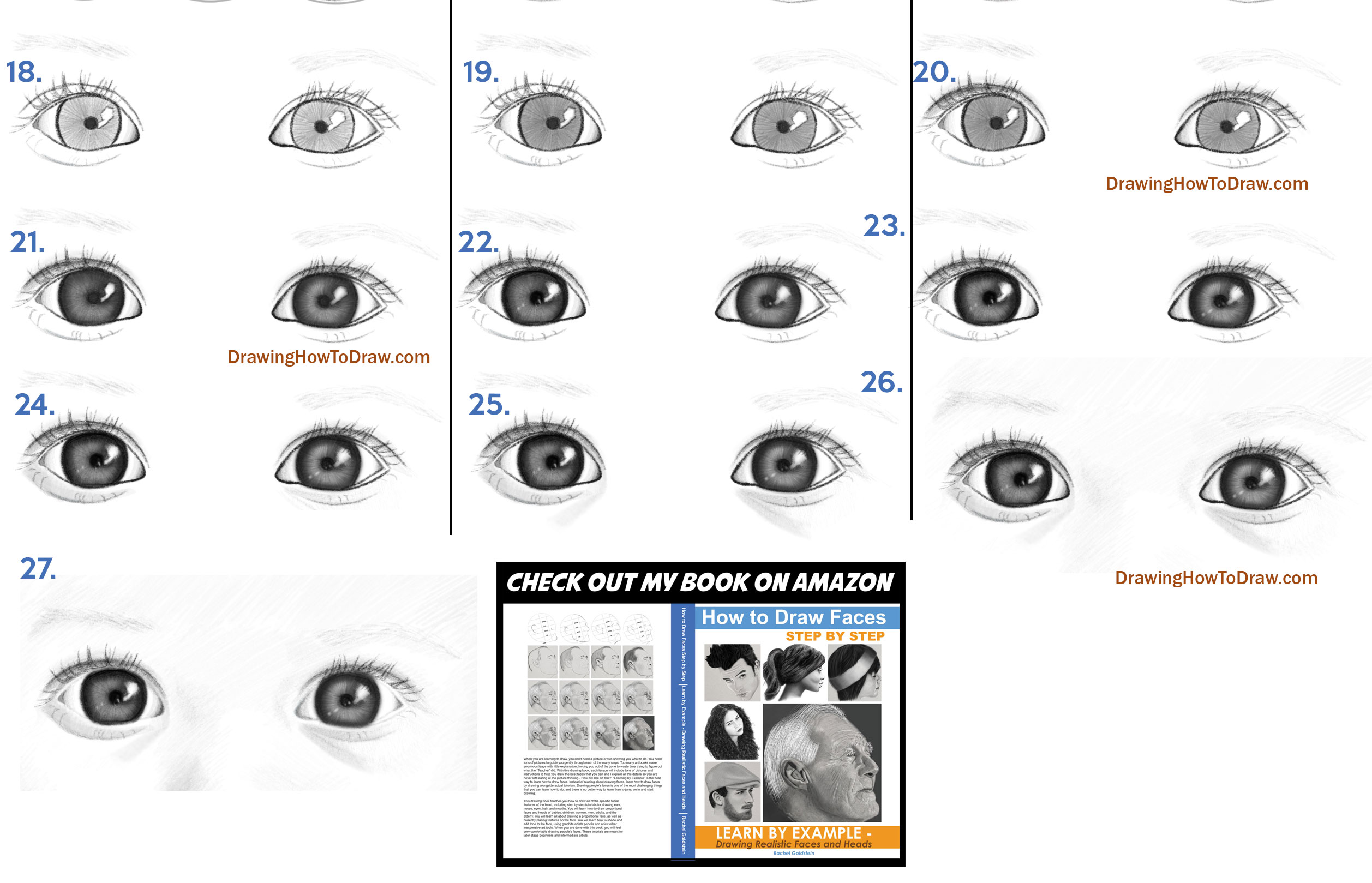 drawing babies baby's baby eyes - simple steps lesson for beginners