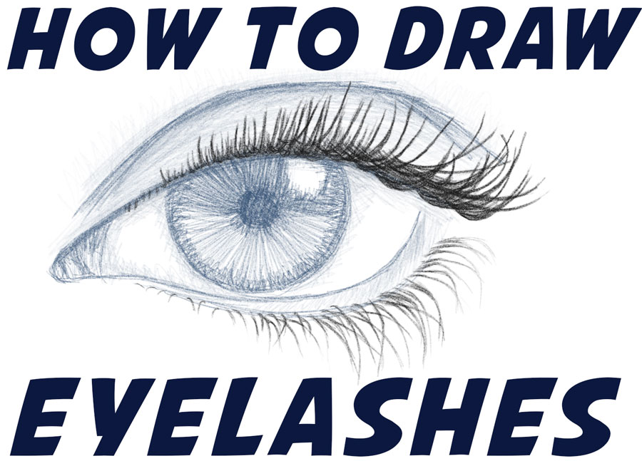 How to Draw Eyelashes (Women's and Men's) Easy Step by Step Drawing Tutorial for Beginners