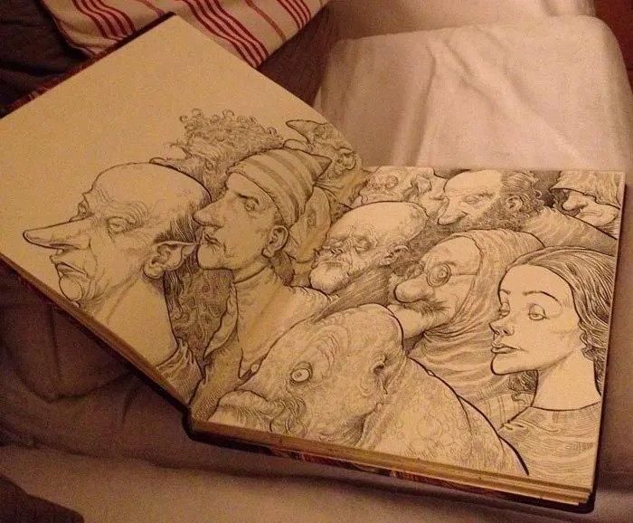 Chris Riddell amazing inspiration sketchbooks