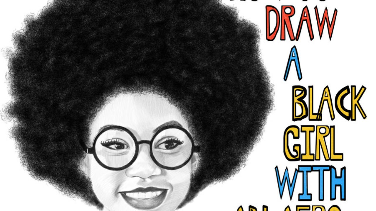 Girl afro black Black and