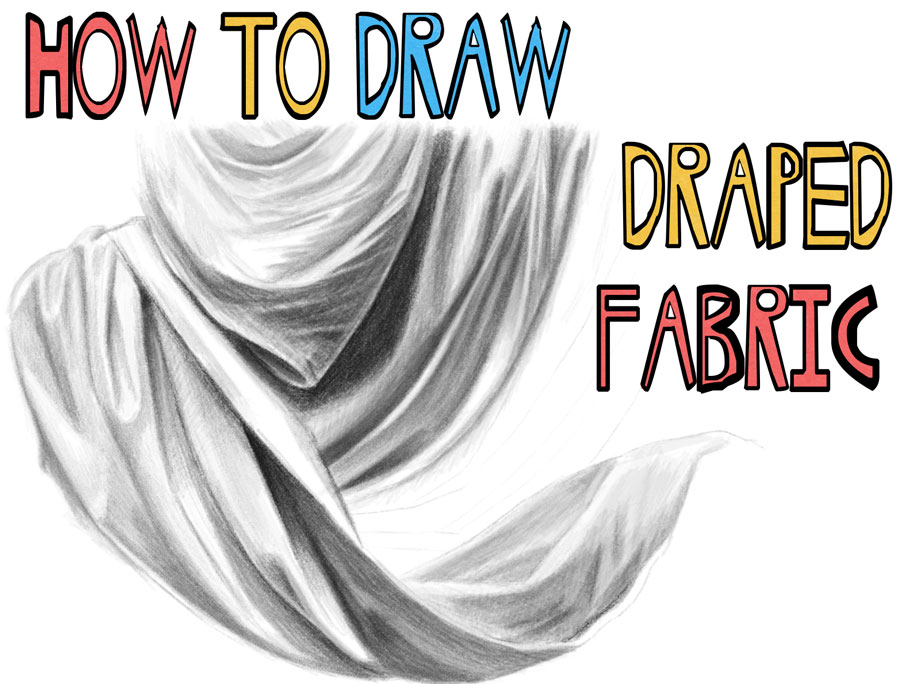 How to Draw Draped Fabric with Creased Folds, Wrinkles on Clothing Fabric and Drapery