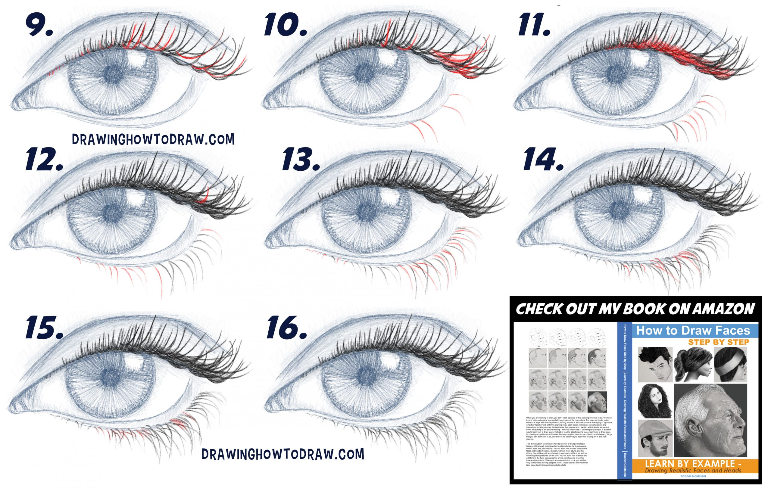 a guide to drawing eyelashes and lashes simple steps lesson