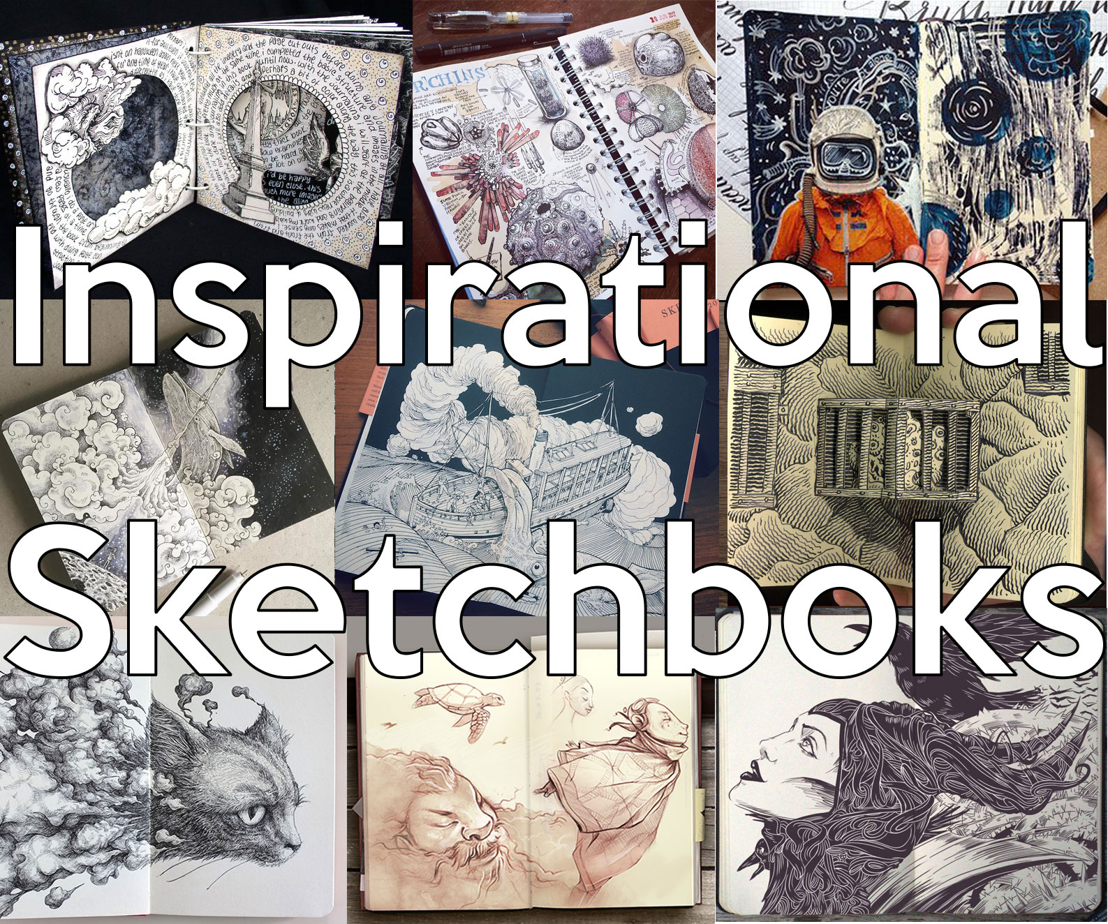 50+ most inspirational sketchbooks and art journals