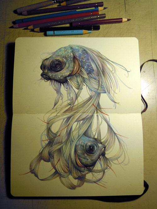 gorgeous moleskin sketchbook art