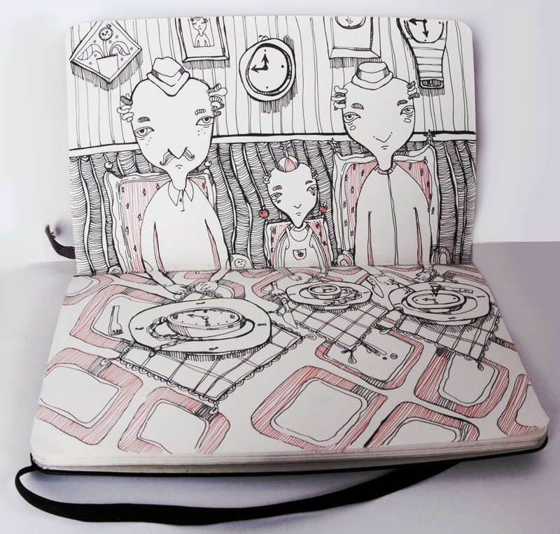 Eat Sleep Draw Studio inspirational illustration sketchbook
