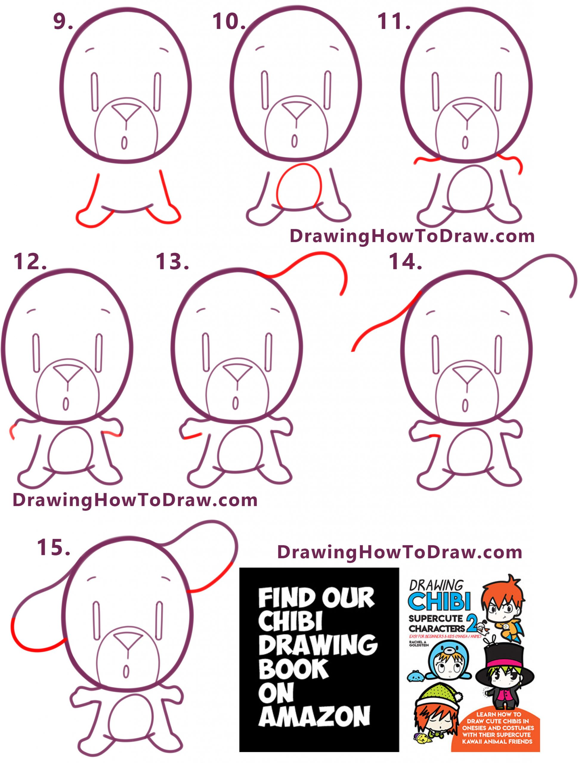 how to draw a cartoon dog simple drawing lesson