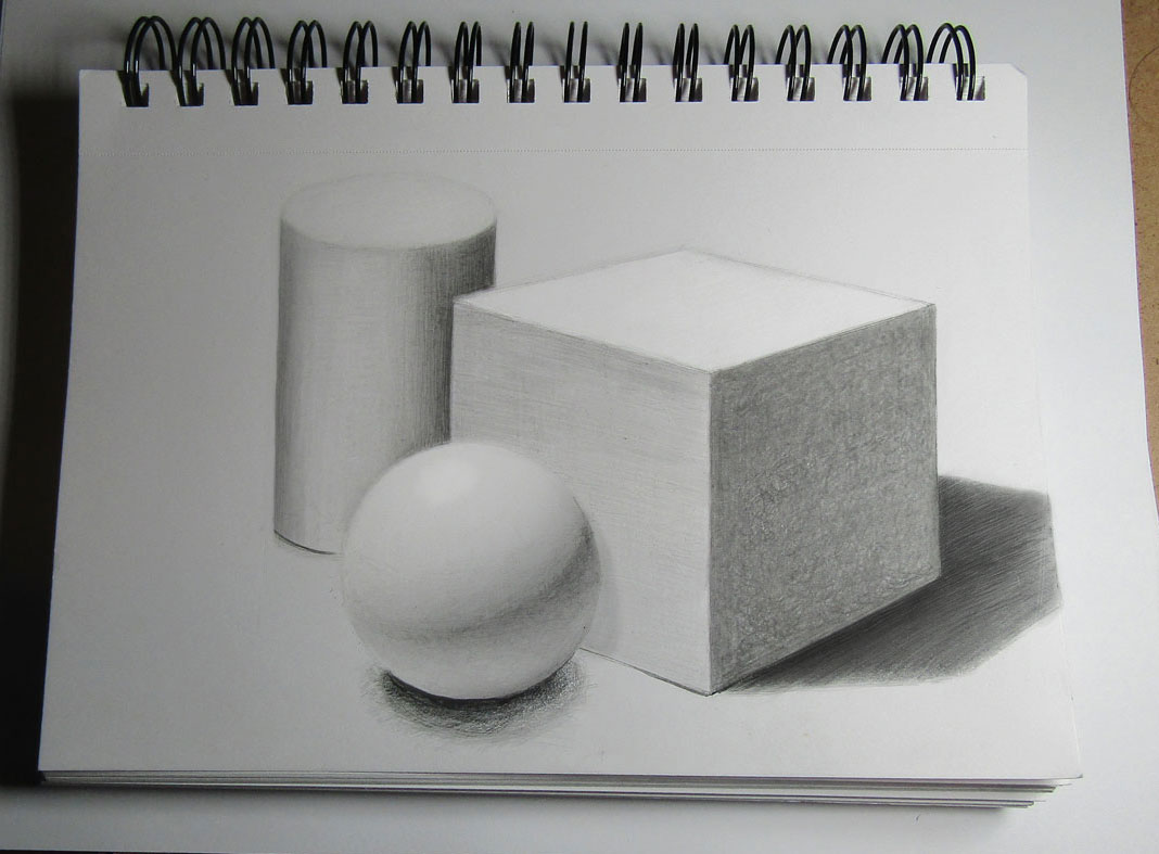 Learn How to Draw a Still Life with Basic Geometric Shapes (Cube, Sphere, and Cylinder) Step by Step Drawing Tutorial