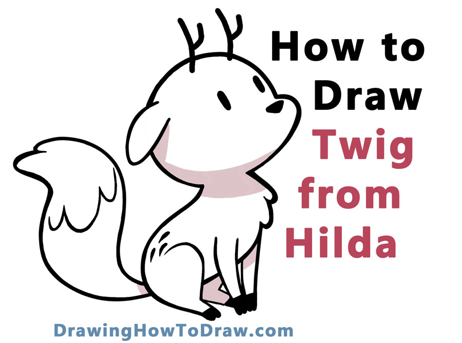 Learn How to Draw Twig the Deerfox from Hilda Easy Step by Step Drawing Tutorial for Kids