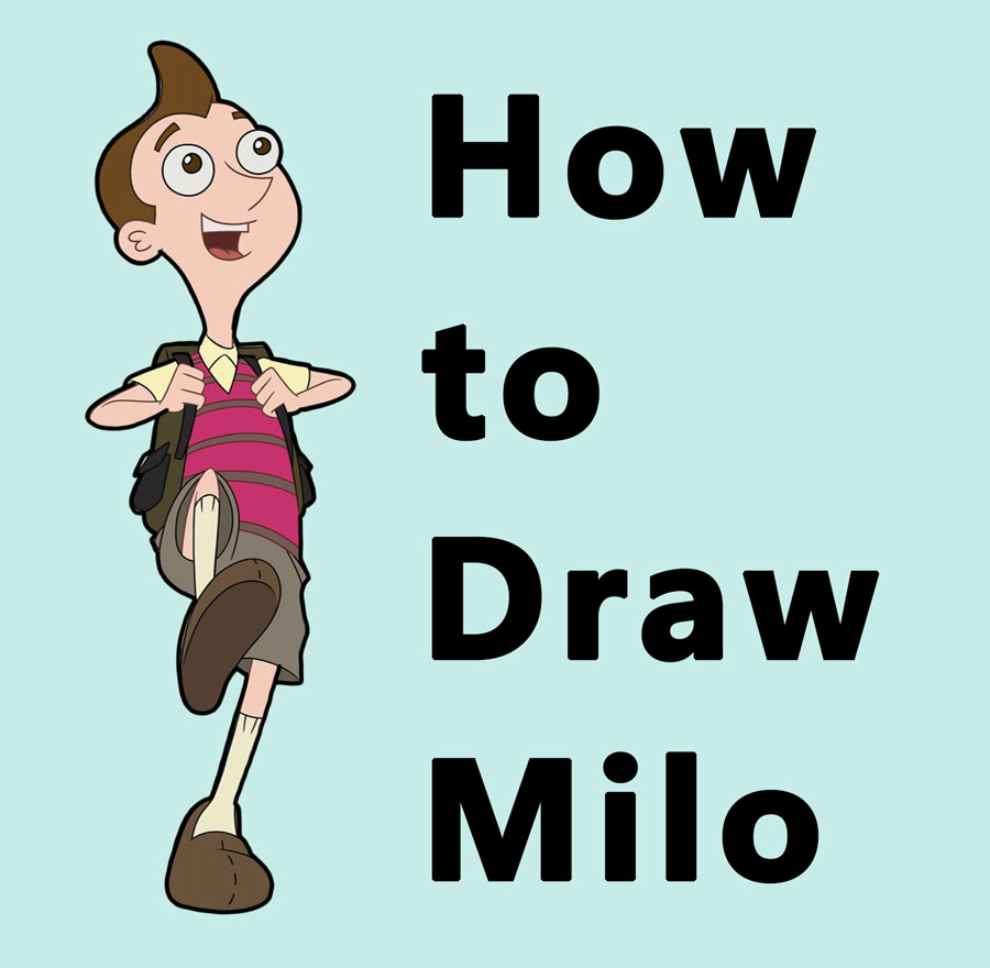 How to Draw Milo Murphy from Disney's Murphy's Law - Easy Step by Step Drawing Tutorial for Kids