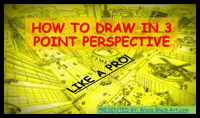 How to Draw in Three Point Perspective Like a Pro