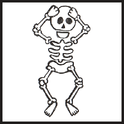 how to draw skeletons : drawing tutorials & drawing & how to draw, Skeleton