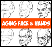 How to Draw Aging Faces and Hands and Where to Draw Wrinkles on the Head and Face