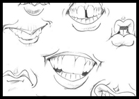 How to Draw Caricatures: Mouths