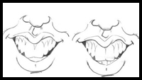 How to Draw Caricature Teeth