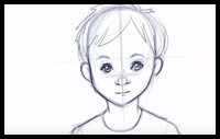 How to draw Children's faces and expressions