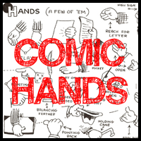 Guide to Drawing Cartoon Hands : Reference for Cartooning Comic Hands in Different Gestures and Poses