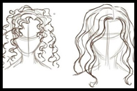 How To Draw Curly & Wavy Hair