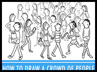 How to Draw a Crowd of People in 3 Easy Steps