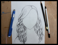 Easy Step-By-Step Instructions for Drawing Curly Hair